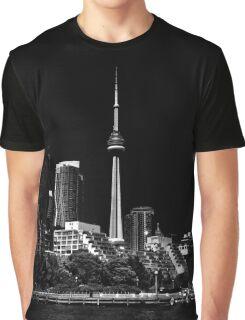 CN Tower From Bathurst Quay Toronto Canada Graphic T-Shirt