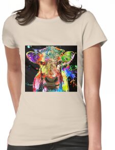 Cow Grunge  Womens Fitted T-Shirt