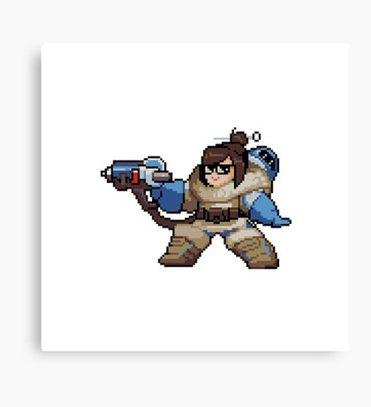 Overwatch-Mei Pixel Spray Canvas Print