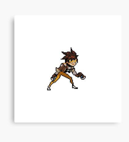 Overwatch-Tracer Pixel Spray Canvas Print