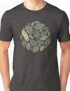Autumn green leaves are falling Unisex T-Shirt