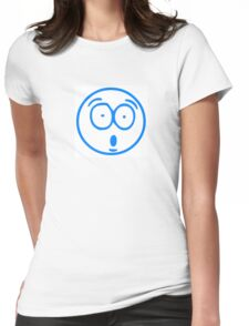 Cartoon Smiley Womens Fitted T-Shirt