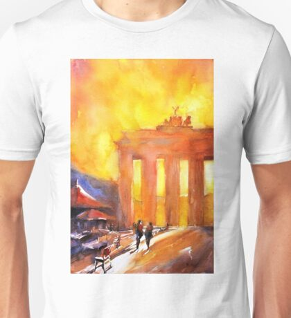 Brandenburg Gate watercolor painting- Germany Unisex T-Shirt