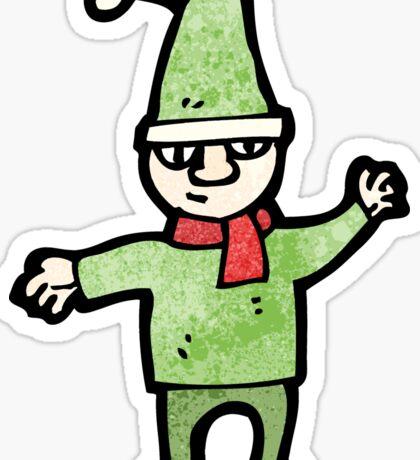 cartoon christmas elf Sticker