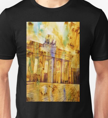 Brandenburg Gate in Berlin, Germany- Watercolor painting Unisex T-Shirt
