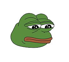 Sad Frog Photographic Print
