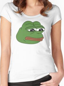 Sad Frog Women's Fitted Scoop T-Shirt