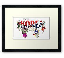 Dance KOREA Framed Print