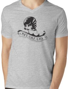 Speakeasy (black) Mens V-Neck T-Shirt