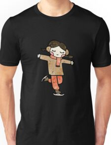 cartoon ice skating girl Unisex T-Shirt