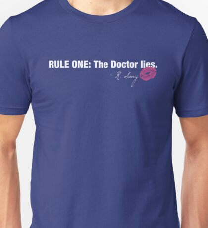 Doctor Who - Rule One on dark Unisex T-Shirt