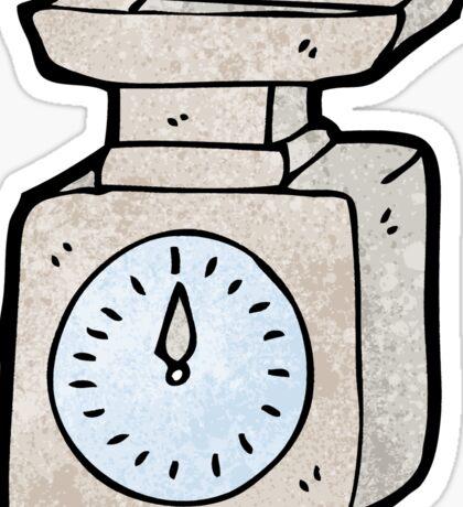 cartoon weighing scales Sticker