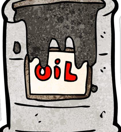 cartoon barrel of oil Sticker