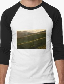 Rolling Hills of Uvac Canyon in Serbia Men's Baseball ¾ T-Shirt