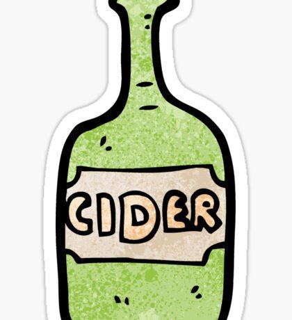 cartoon cider bottle Sticker