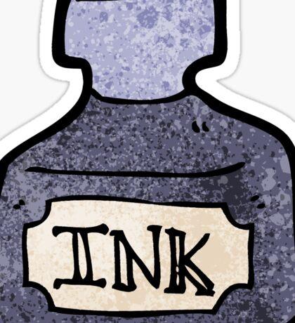 ink bottle cartoon Sticker