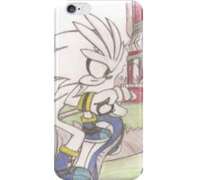 Hand-drawn Silver the Hedgehog Sonic Riders: ZG  iPhone Case/Skin