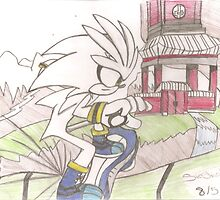 Hand-drawn Silver the Hedgehog Sonic Riders: ZG  by RaptorSauce1016