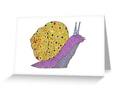 Psychedelic Snail Greeting Card