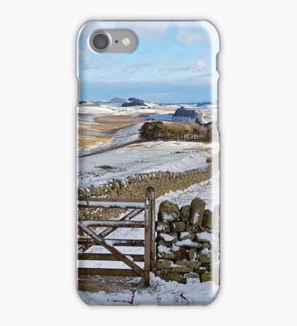 Hadrians Wall Footpath - Winshields Crag iPhone Case/Skin