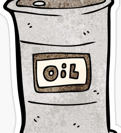 cartoon oil barrel Sticker