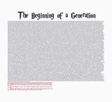 The Beginning of a Generation by Avotteren