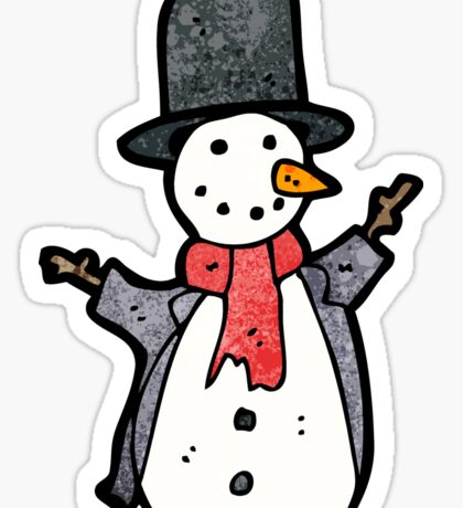 traditional snowman Sticker