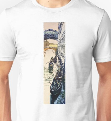 Bridge of Sighs watercolor painting- Venice, Italy Unisex T-Shirt