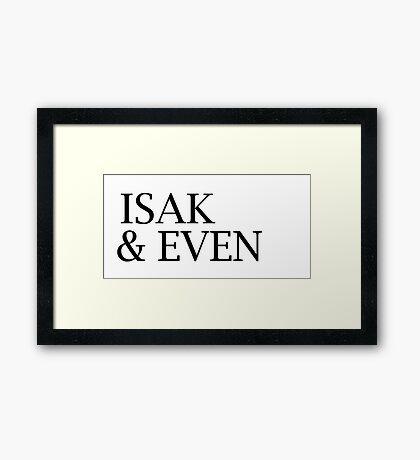 Isak & Even - Skam 3 Framed Print