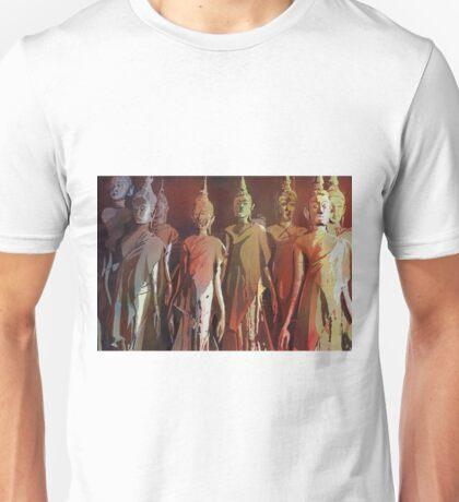 Standing Buddha statues- Laos Unisex T-Shirt