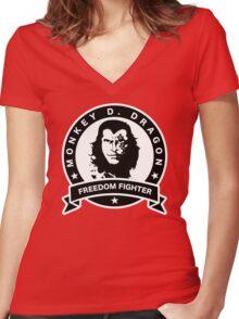 Monkey D. Dragon X Che Women's Fitted V-Neck T-Shirt
