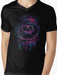 AstroSkull Mens V-Neck T-Shirt