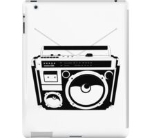 1980s Boombox in da hood iPad Case/Skin