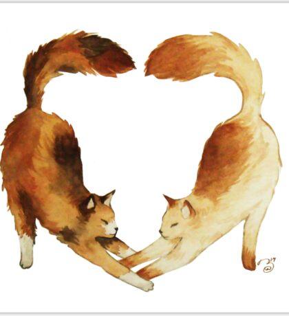 Feline Valentines Sticker