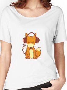 Headphones-Fox Women's Relaxed Fit T-Shirt
