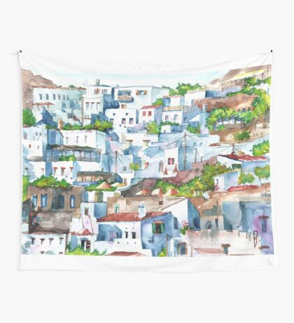 Lindos, Greece Wall Tapestry