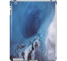 Staring into an ice hole iPad Case/Skin