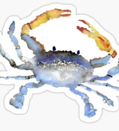Watercolor Crab Sticker