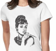 Icon: Audrey Hepburn Womens Fitted T-Shirt