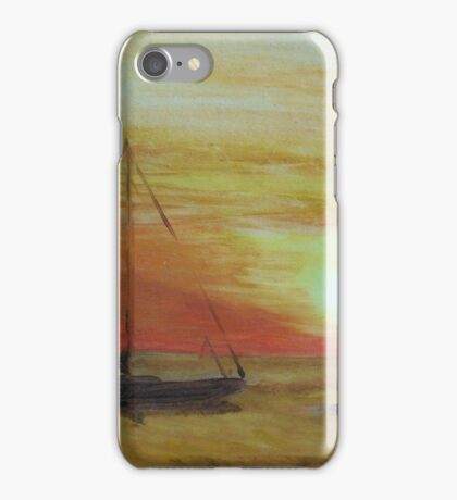 Boats at Sunset iPhone Case/Skin