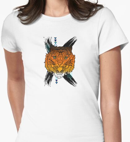 Tiger Tattoo Womens Fitted T-Shirt