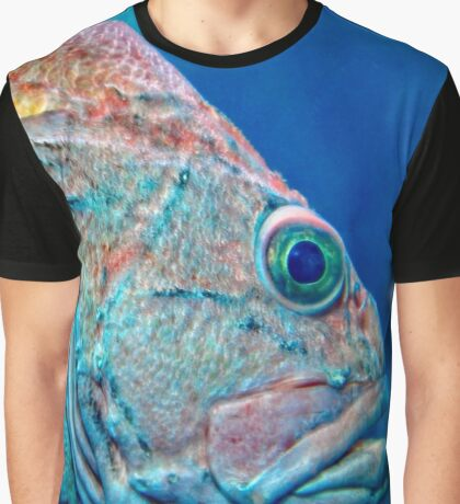 Swimming The Ocean Blue Graphic T-Shirt