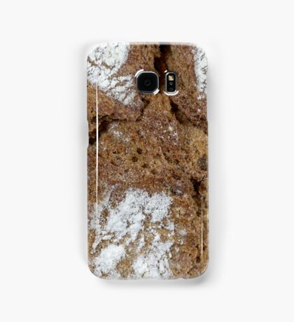Macro photo of the surface of brown bread from Germany. Samsung Galaxy Case/Skin