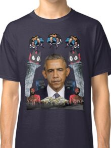 mc obama [featuring dr phil, lil b, and mathew knowles in a cloud] Classic T-Shirt