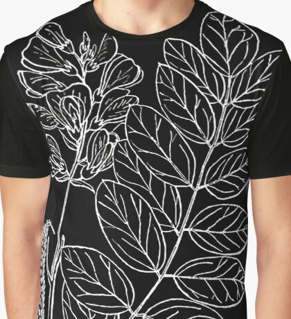 Britton And Brown Illustrated flora of the northern states and Canada 1252 Robinia viscosa BB 1913 Graphic T-Shirt