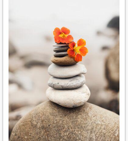 Beach Stones And Wildflowers Sticker