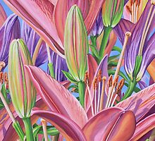 Field Of Lilies by Jane Girardot