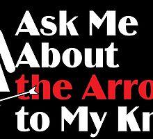 Skyrim - Ask Me About the Arrow (female) on dark by littlebearart