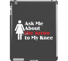 Skyrim - Ask Me About the Arrow (female) on dark iPad Case/Skin