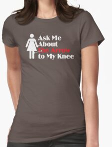 Skyrim - Ask Me About the Arrow (female) on dark T-Shirt